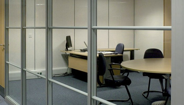 aluminium frame glass partitions